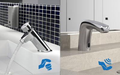 Adaptar los baños públicos post-covid con grifería electrónica de fácil instalación.